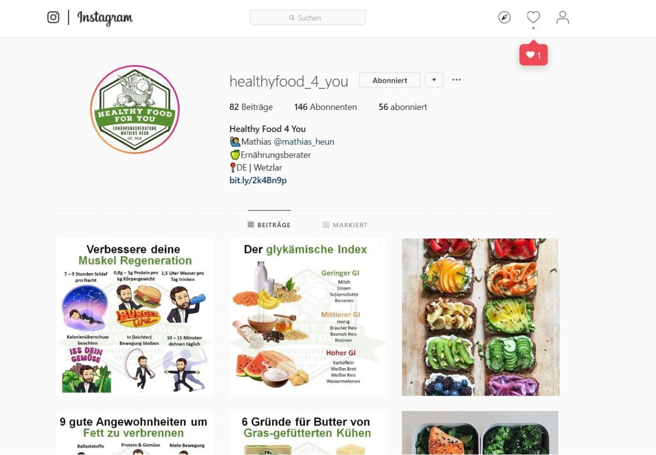 HealthyFood4You-Instagram